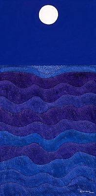 Sea Moon Full Moon Painting - Full Moonscape II by Synthia SAINT JAMES