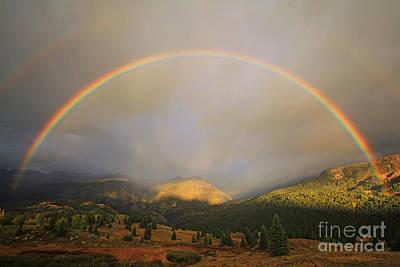 Double Rainbow Photograph - Full Rainbow Surprise by Patrick Dillon