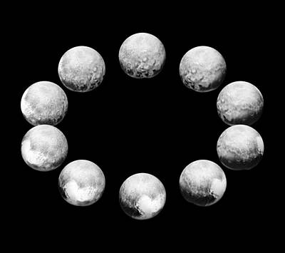 Deep Sky Photograph - Full Rotation Of Pluto by Science Source