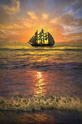 Hobe Photograph - Full Sail by Debra and Dave Vanderlaan