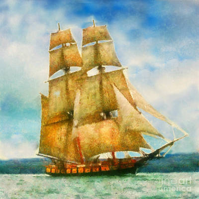 Painting - Full Sail by Scott B Bennett