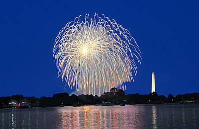 Digital Art - Full Spectrum Washington Dc Fireworks by Steven Barrows