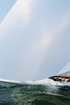Cool Photograph - Full Spinnaker - Lake Geneva Wisconsin by Bruce Thompson