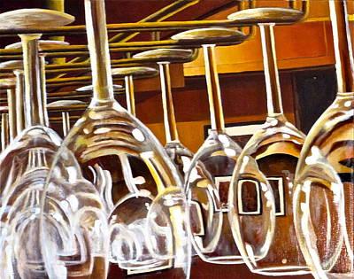 Wine Rack Painting - Fully Stocked by Tim Eickmeier