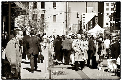 Lunch Time Photograph - Fulton Street 1990s by John Rizzuto