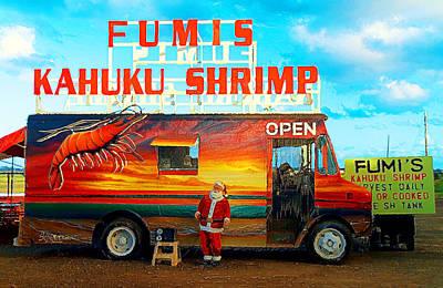 Fumis Kahuku Shrimp Print by Ron Regalado