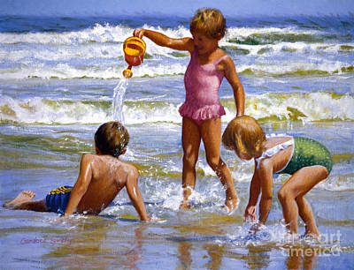 Folly Beach Painting - Fun And Games by Candace Lovely