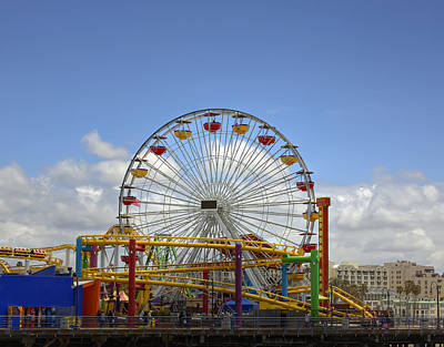 Photograph - Fun At Santa Monica Pier by Kim Hojnacki