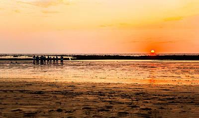 Photograph - Fun At Sundown by Kantilal Patel
