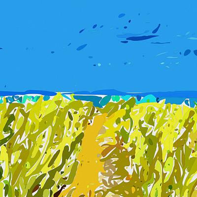 Digital Art - Fun At The Beach by David Hansen
