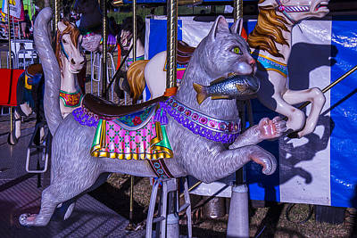 Amusing Photograph - Fun Cat  Amusementt Ride by Garry Gay