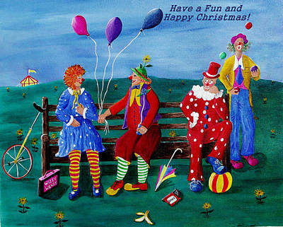 Painting - Fun Christmas by Sandy Wager