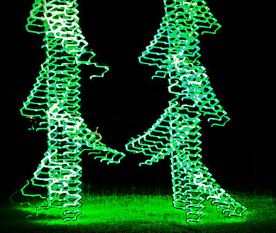 Photograph - Fun Christmas Trees by Mike Martin