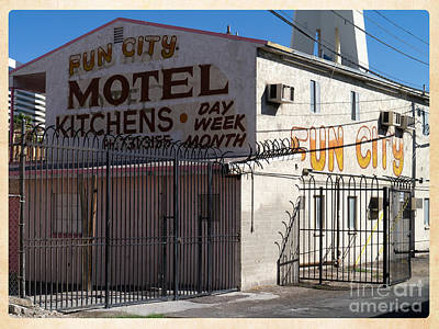 Photograph - Fun City Las Vegas Motel by Edward Fielding