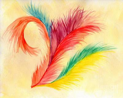 Fun Feathers Original by Anne Clark