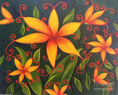 Painting - Fun Flowers by Vikki Angel