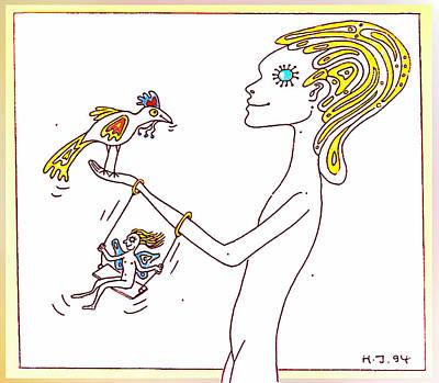 Joyful Drawing - Fun In Happy Elf Land by Hartmut Jager