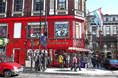 Digital Art - Fun In London by Carrie OBrien Sibley