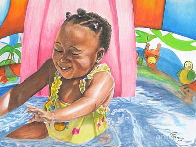 Fun In The Sun Art Print by Toni  Thorne