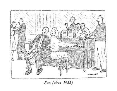 Fifties Drawing - Fun by Robert Mankoff