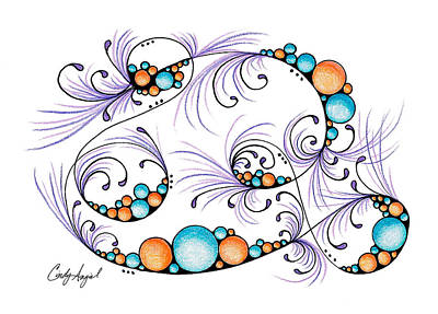 Roller Coaster Drawing - Fun Things Happenin' by Cindy Angiel