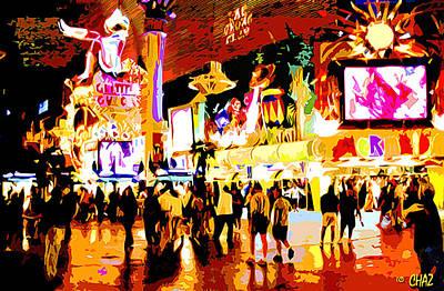 Fun Time In Old Las Vegas Art Print