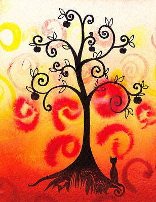 Painting - Fun Tree Of Life Impression Iv by Irina Sztukowski