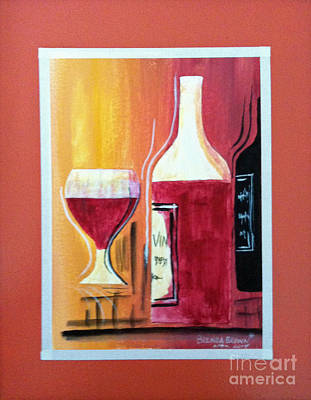 Painting - Fun Wine Time by Brenda Brown