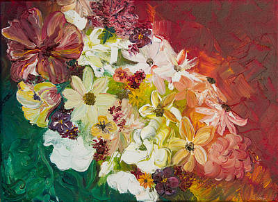 Painting - Fun With Flowers by Melinda Cummings