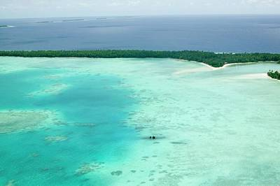 Funafuti Atol On Tuvalu From The Air Art Print by Ashley Cooper