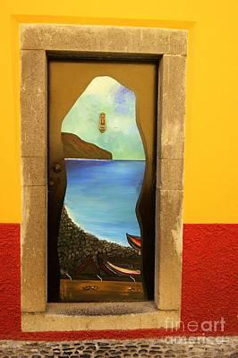 Photograph - Funchal Door Art 4 by David Birchall