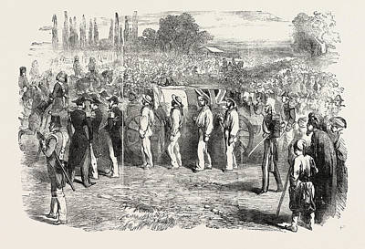 Funeral Of Captain Parker At The Champ Des Morts At Pera Art Print by English School