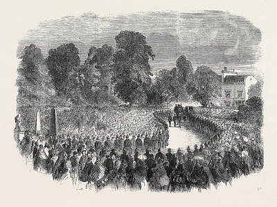 Funeral Of Mr Braidwood The Late Chief Of The London Fire Print by English School