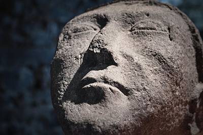 Photograph - Funerary Face by Nadalyn Larsen