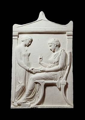 Reliefs Photograph - Funerary Stele Of Hegesias by Ashmolean Museum/oxford University Images