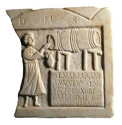 Funerary Stele Of The Landlady Sentia Print by Everett