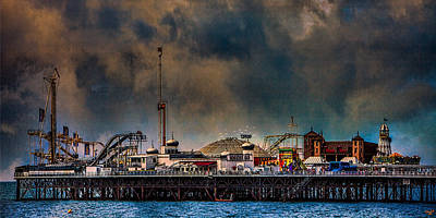Digital Art - Funfair On The Pier by Chris Lord