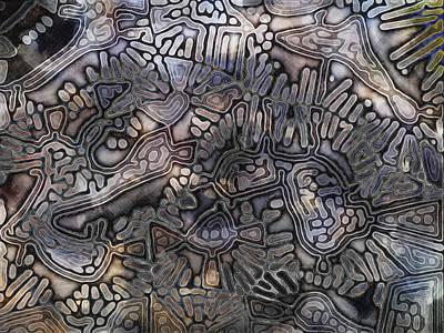Fungal Digital Art - Fungalplasty 1 by Paul Gioacchini