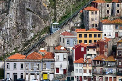 Funicular Dos Guindais In Porto Art Print by Artur Bogacki
