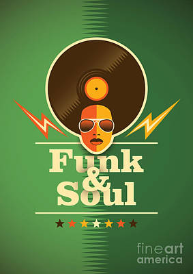 Leisure Wall Art - Digital Art - Funk And Soul Poster. Vector by Radoman Durkovic