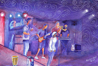 Painting - Funk Trek At The Barkley by David Sockrider