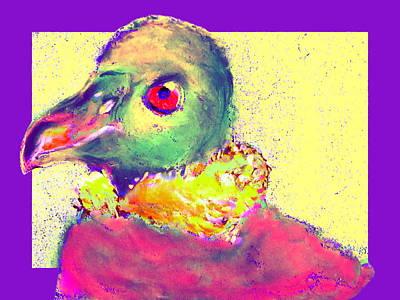 Condor Painting - Funky Andrean Condor Bird Art Prints by Sue Jacobi