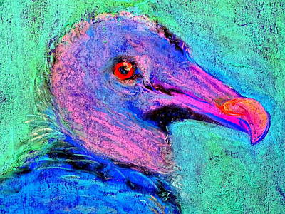 Of Toddlers Painting - Funky Baby Black Vulture Art Prints by Sue Jacobi