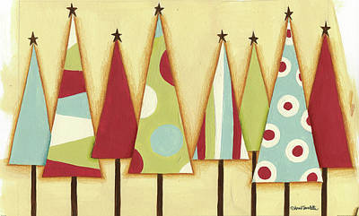 Holiday Painting - Funky Christmas II by Anne Tavoletti