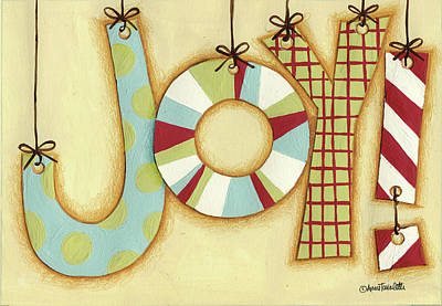 Candy Painting - Funky Christmas IIi by Anne Tavoletti