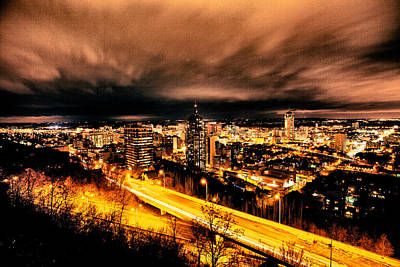 Craig Brown Photograph - Funky Clouds Over Hamilton by Craig Brown