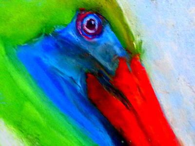 Funky Colorful Pelican Art Prints Art Print