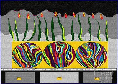 Digital Art - Funky Flower Box by Lewanda Laboy
