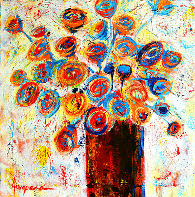 Painting - Funky Flowers by Patricia Awapara