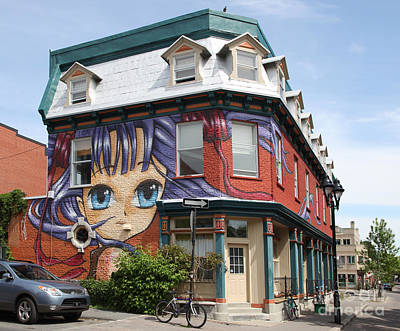 Montreal Neighborhoods Photograph - Funky Mont Royal Montreal by Ros Drinkwater